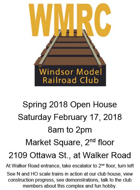 Windsor Model Railroad Club Spring Open House Poster