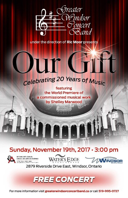 Greater Windsor Concert Band 20th Anniversary Concert Poster