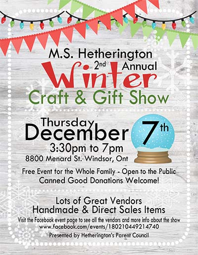 Hetherington Winter Craft & Gift Show Poster