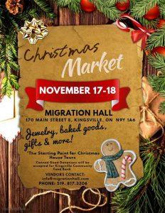 Migration Hall Christmas Market Poster