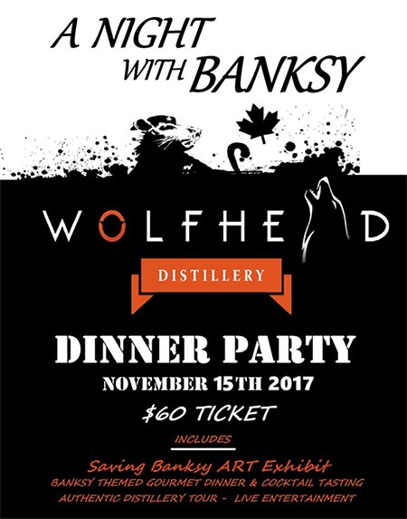 A Night With Banksy Dinner Party Poster