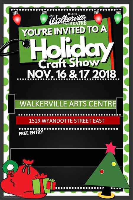 Olde Walkerville Theatre Holiday Craft Show Poster