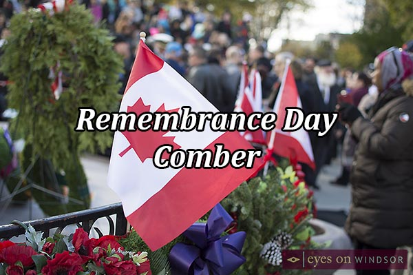 Remembrance Day Ceremony in Comber, Ontario.