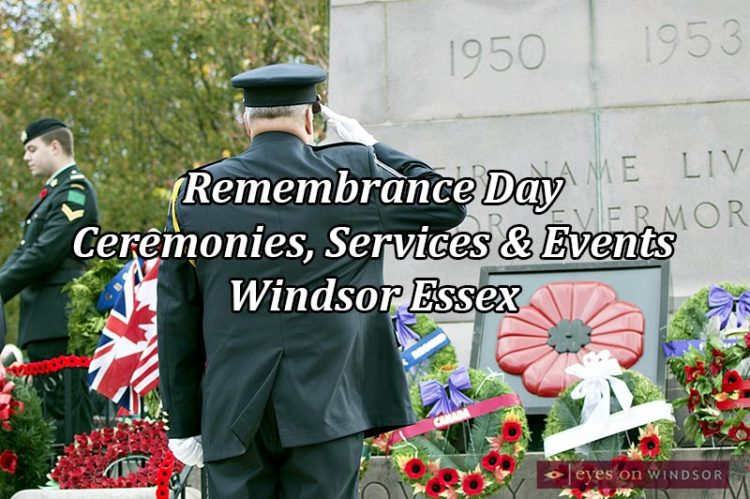 Windsor Essex Remembrance Day Guide To Ceremonies, Services & Events