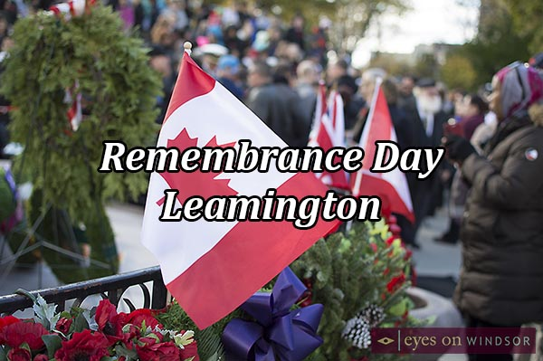 Remembrance Day Service in Leamington, Ontario.