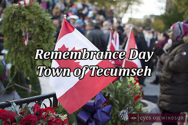 Remembrance Day Parade & Ceremony in the Town of Tecumseh.