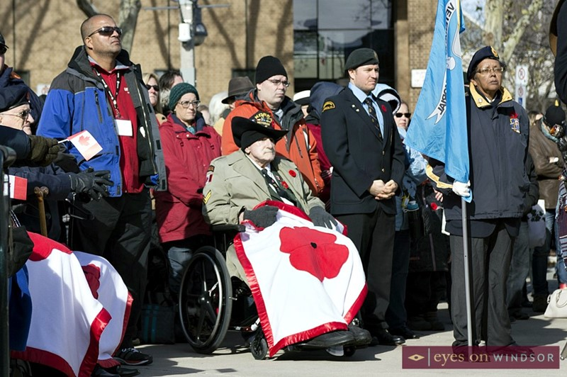 Korean War veteran Fred McLachlan, 82, during the 2017 Remembrance Day ceremony at the City of Windsor cenotaph.