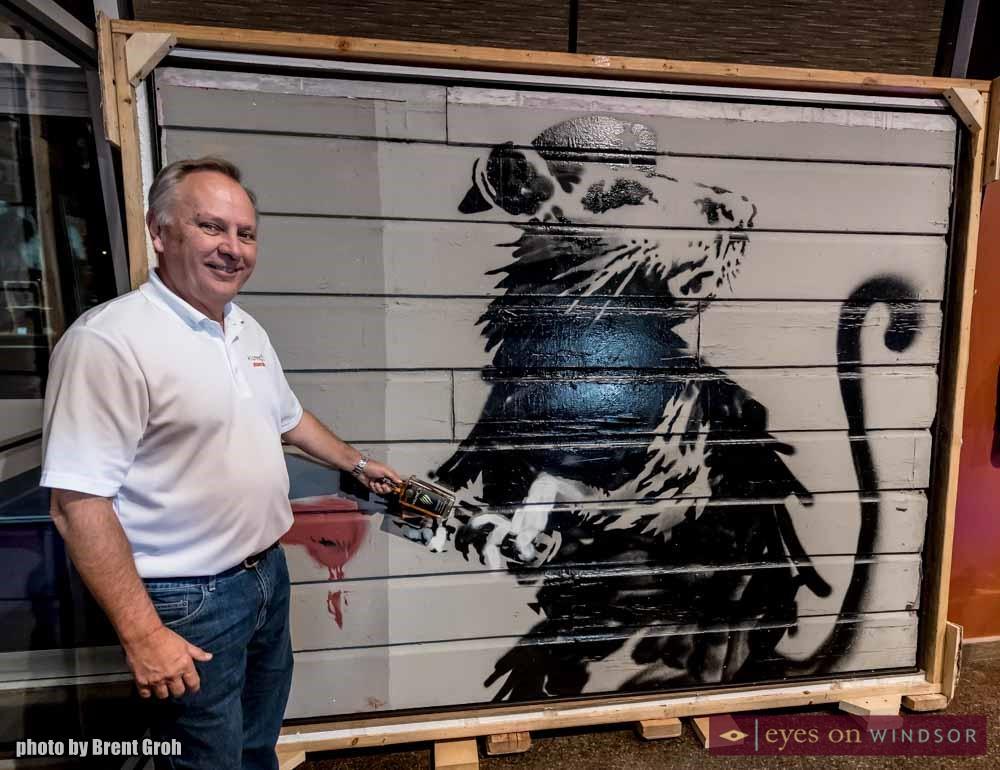 Banksy Rat at Wolfhead Distilery