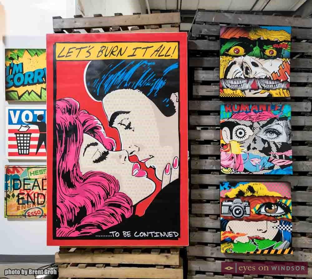 Art work of Denial at Windsor Essex Saving Banksy Exhibit