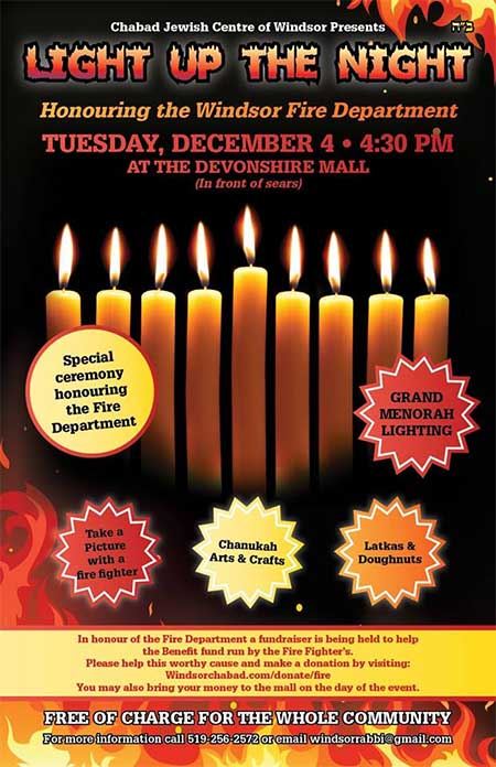 Chanukah Celebration & Peace Menorah at Devonshire Mall