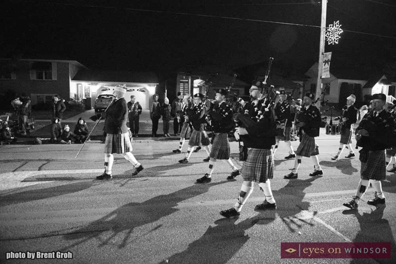 Windsor Police Pipe Band During Parade/