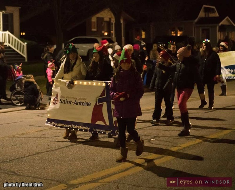 Saint Antoine Catholic Elementary School During The Christmas in Tecumseh Parade.