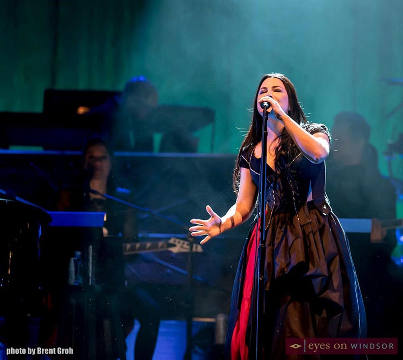Amy Lee performs during Evanescence Synthesis Live Tour at Caesars Windsor