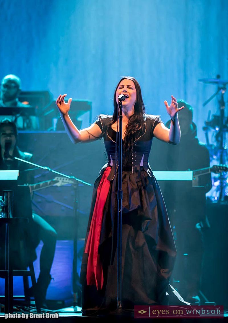Vocalist Amy Lee of Evanescence hits high notes while performing at Caesars Windsor.