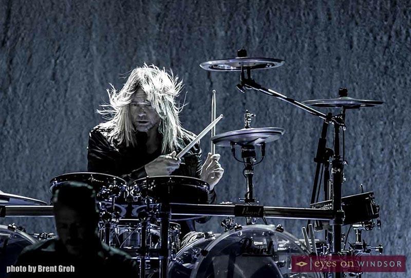 Evanescence drummer performing at Caesars Windsor.