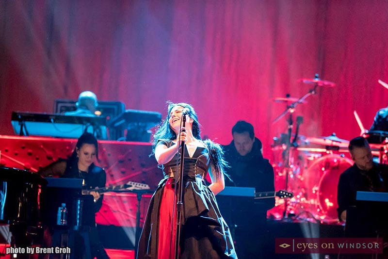 Evanescence on stage at The Colosseum inside Caesars Windsor.