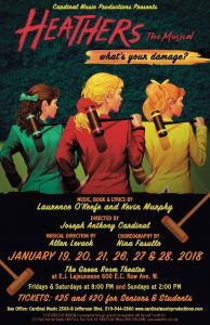 Poster: Heathers The Musical by Cardinal Music Productions