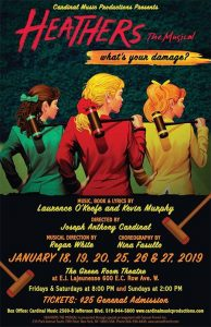 Heathers The Musical Cardinal Music Productions Poster