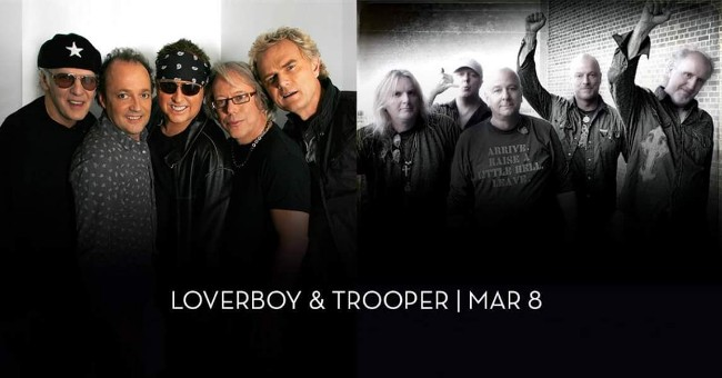 80's Rock Bands Loverboy and Trooper Perform Live at Caesars Windsor