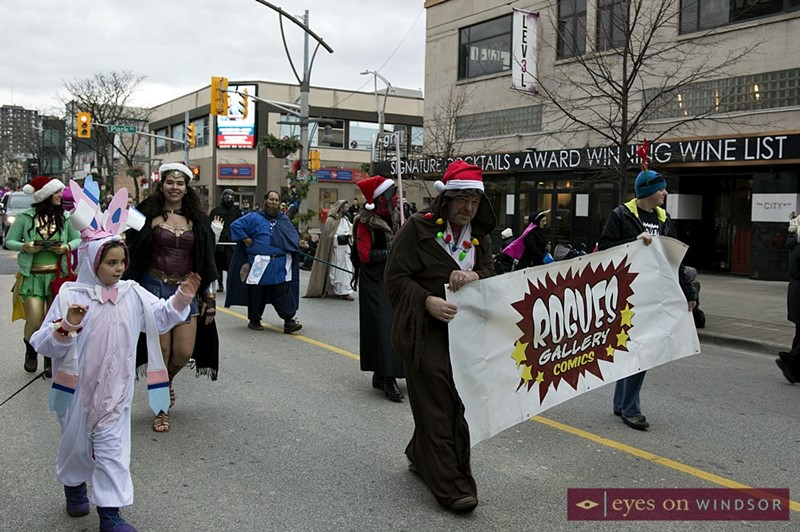 Cosplayers With Rogues Gallery Comics During Windsor Winter Fest Parade