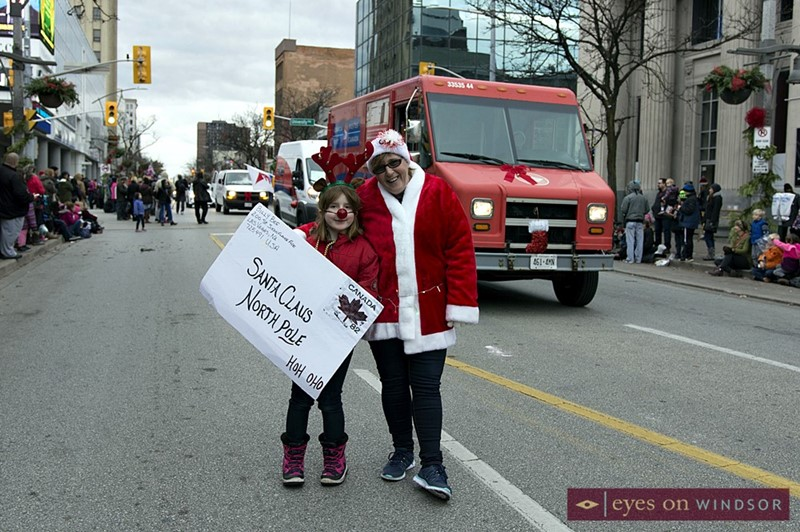 Canada Post Collecting Letters For Santa During Windsor Winter Fest Parade