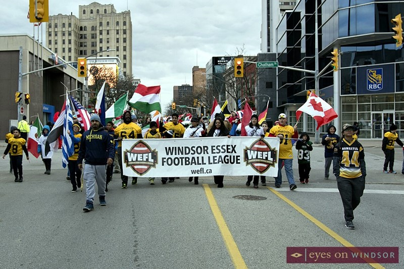 Windsor Essex Football League Participate in Windsor Winterfest Parade