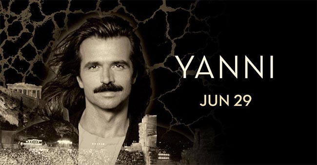 World Renowned Performer & Composer Yanni Performs at Caesars Windsor During His Anniversary Concert Tour 25 Acropolis