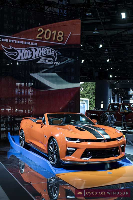 2018 Camaro Hot Wheels 50th Anniversary Edition on display at the Detroit Auto Show