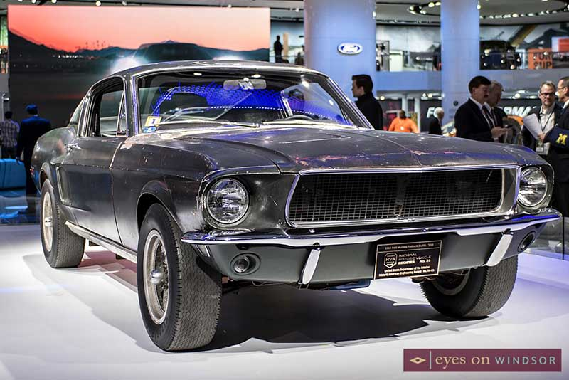 1968 Ford Mustang Fastback Bullitt on display at NAIAS 2018