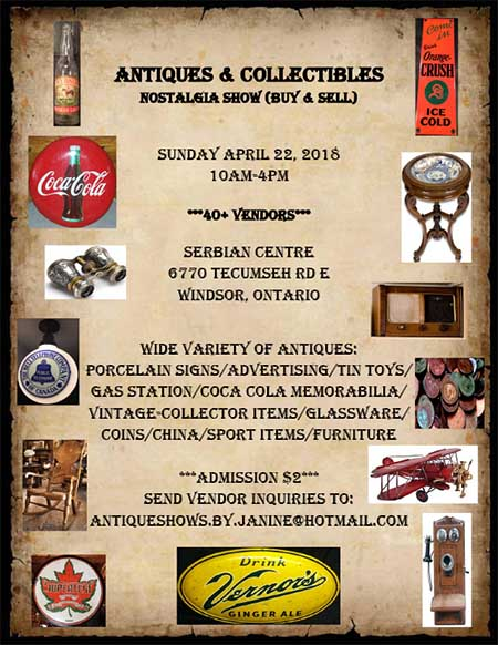 Antiques And Collectibles Nostalgia Show Poster