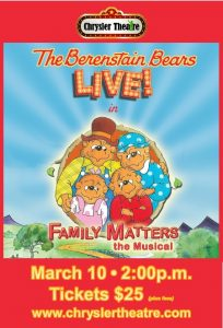 Berenstain Bears Live in Family Matters The Musical Poster