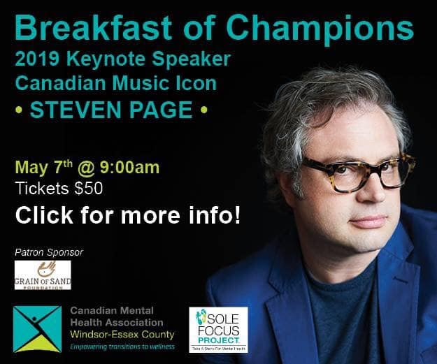 Breakfast of Champions in support of the Windsor-Essex the Canadian Mental Health Association