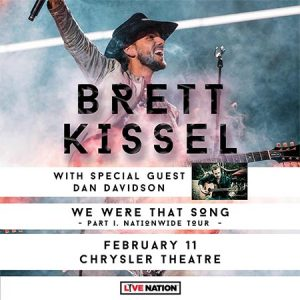 Country Music Artist Brett Kissel 's We Were That Song Tour, Windsor, ON, Poster