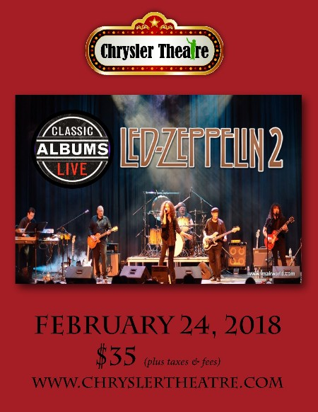 Classic Albums Live: Led Zeppline II Poster Capitol Theater Windsor