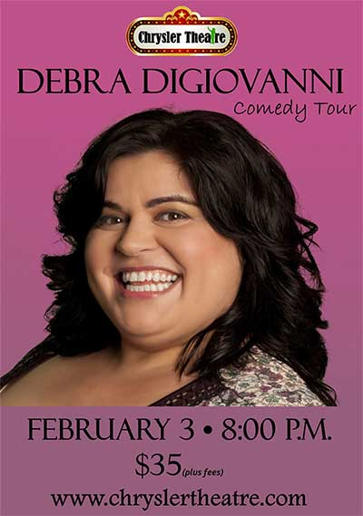 Award Winning Stand-Up Comedian Debra DiGiovanni, Windsor, Ontario, Poster