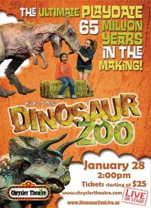 Erth's Dinosaur Zoo Live in Windsor, Ontario, Poster