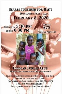 Hearts Together For Haiti Annual Charity Gala Poster