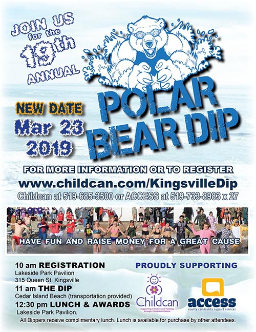 Annual Kingsville Polar Bear Dip Poster