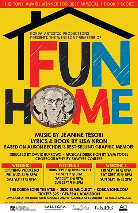 Kordazone Theatre presents Fun Home the Musical. (Poster)