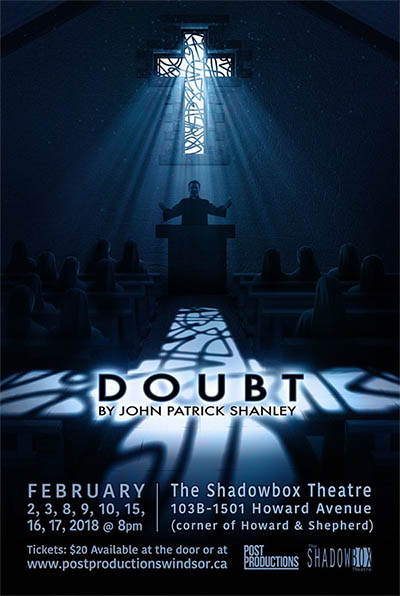 Post Productions Windsor Presents Doubt: A Parable by Patrick Shanley, Poster