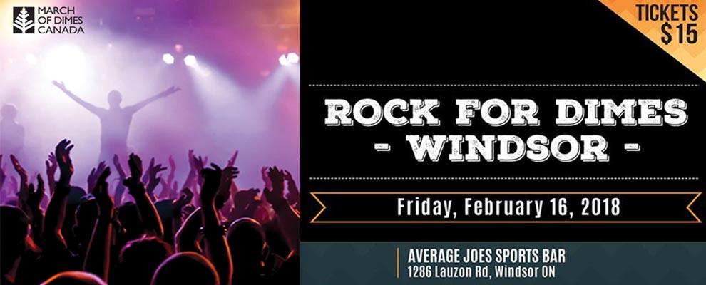 Rock For Dimes Windsor 2018 Banner Ad