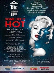 Some Like It Hot Bank Theatre Fundraiser Dinner Poster
