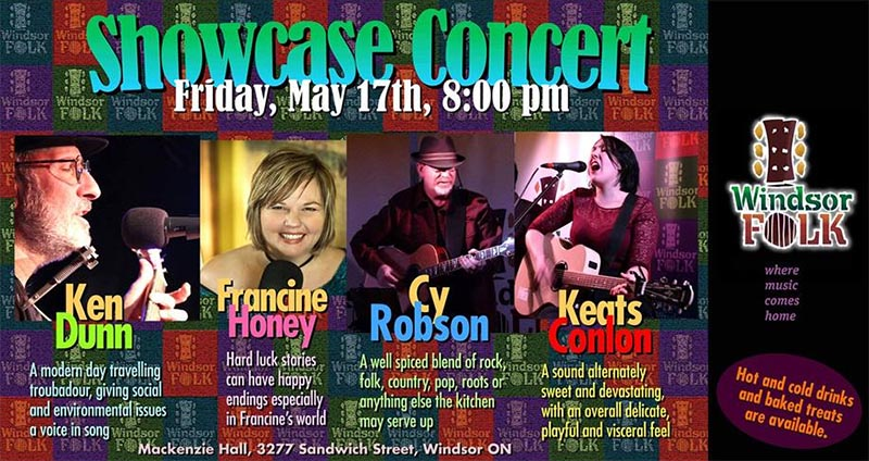Windsor Folk Showcase Concert Poster