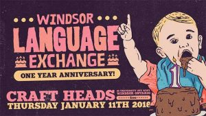 Windsor Language Exchange Anniversary Banner