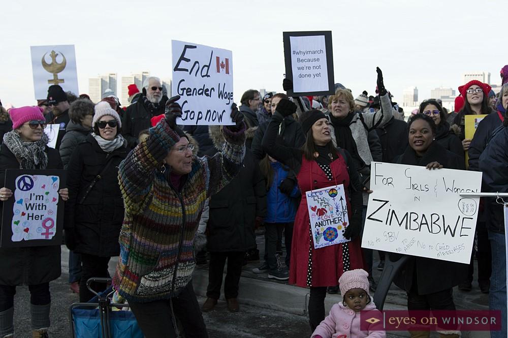 Cheryl Hardcastle during Windsor Women's March