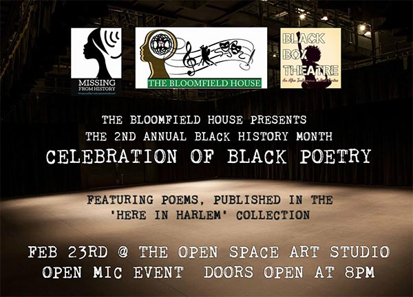 Black History Month Celebration of Black Poetry at the Bloomfield House