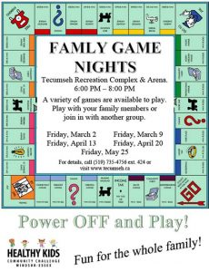 Family Game Nights Tecumseh Poster