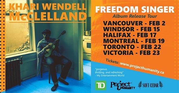 Freedom Singer Album Release Tour Dates