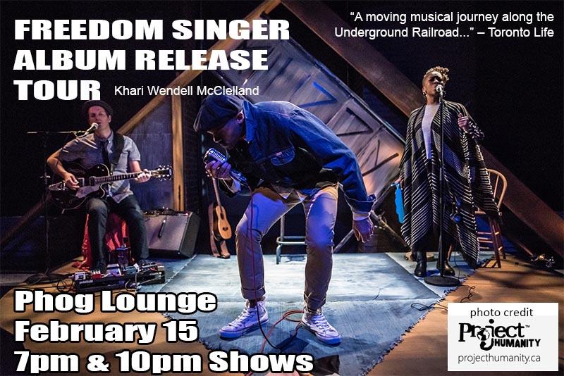 Freedom Singer Album Release Tour With Khari McClelland Windsor at Phog Lounge