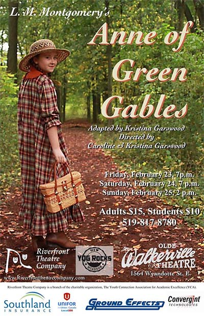Anne Of Green Gables Presented by Riverfront Theatre Company (Poster)